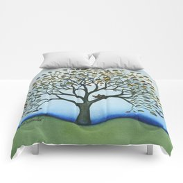 Cairo Whimsical Cat in Tree Comforters