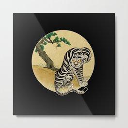 Tiger with magpie type-E : Minhwa-Korean traditional/folk art Metal Print