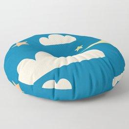 Moon light blue Floor Pillow