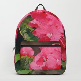 Pink Hydrangeas Backpack