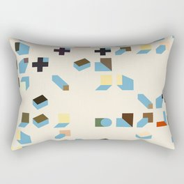 Abstract Geometric Artwork 75 Rectangular Pillow