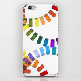 Colorful interlocking block pattern iPhone Skin