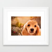 cookie Framed Art Prints featuring Cookie.. by YvetteCheri-DigiArt