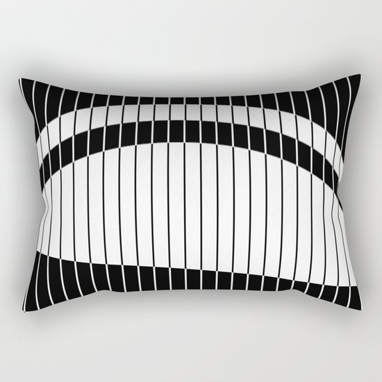 Colour Blind (Abstract, minimalistic black and white) Rectangular Pillow