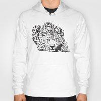 leopard Hoodies featuring Leopard  by Karen Hischak