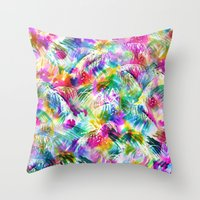 paradise Throw Pillows featuring Paradise by Schatzi Brown