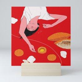 Asian Nostalgia Snacks - Fried (Banh Tieu, Banh Cam, Banh Phong Tom) Mini Art Print