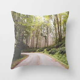 The Road to Olympia Throw Pillow