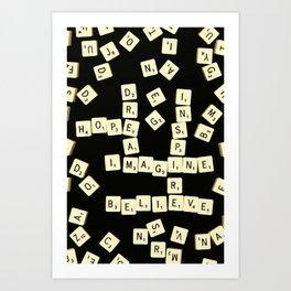 Scrabble Scanograph Art Print
