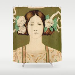 1895 Buffalo Courier for women  New York Shower Curtain