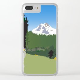 Mt Hood Meadows Hike Clear iPhone Case