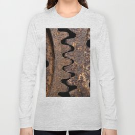 Old and rusty cogwheels Long Sleeve T-shirt