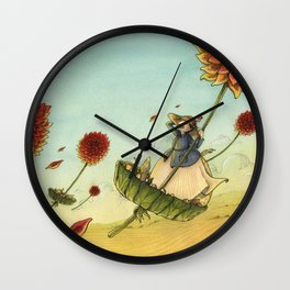 Seeds In The Wind Wall Clock