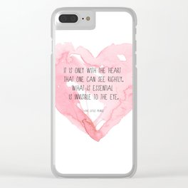 It is only with the heart Clear iPhone Case
