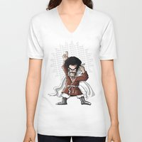 satan V-neck T-shirts featuring Satan! by neicosta