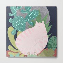 Moonlight Kitty Metal Print