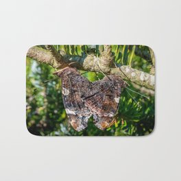 Red Admiral Butterflies Mating Bath Mat