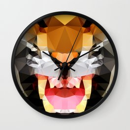 Tiger - Geo Wall Clock