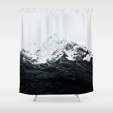 Those waves were like mountains Shower Curtain