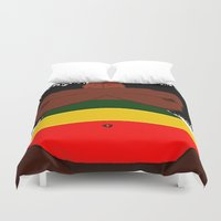 rasta Duvet Covers featuring Rasta Beauty by Courtney Ladybug Johnson