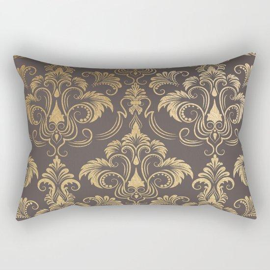 Gold foil swirls damask #10 Rectangular Pillow