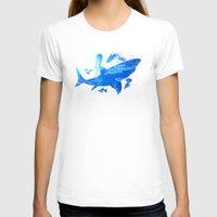 shark T-shirts featuring Shark by Corina Rivera Designs