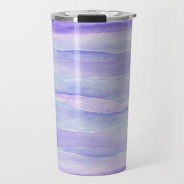 Ultra Violet Watercolor Layers Travel Mug