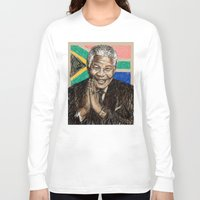 mandela Long Sleeve T-shirts featuring MANDELA by Stan Kwong