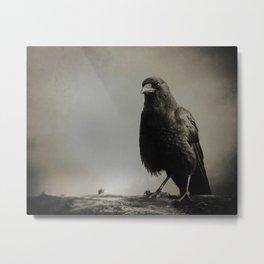 RAVEN PORTRAIT Metal Print