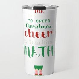 Math Teacher Christmas Elf Gift design Travel Mug