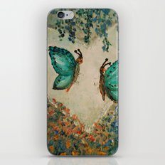 Whimsical Butterfly Love iPhone & iPod Skin