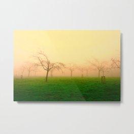 Morning Fog  - JUSTART © Metal Print