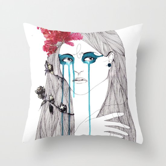 Painted Eyes Throw Pillow