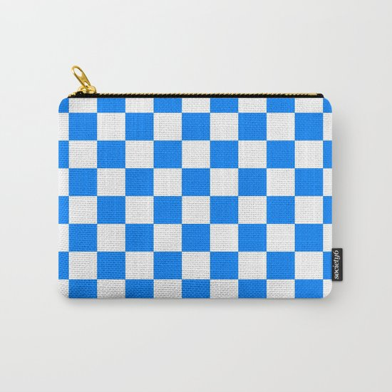Checker (Azure/White) Carry-All Pouch