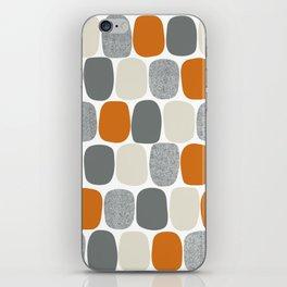 Wonky Ovals in Orange iPhone Skin