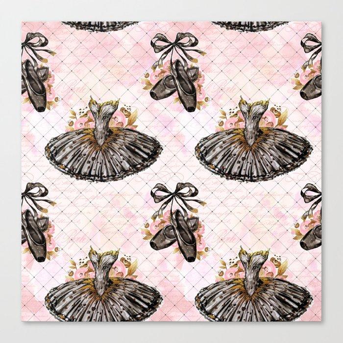 Black Tutu Ballerina Canvas Print