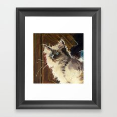 The Magnificent Ascent of the Mighty Bear Detail (Ragdoll Kitten) Framed Art Print