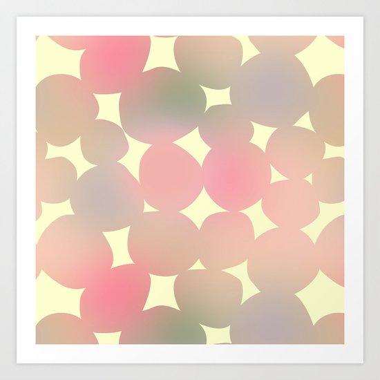 ombre pebbles Art Print