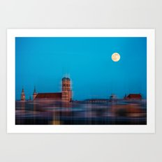 Munich at full moon Art Print