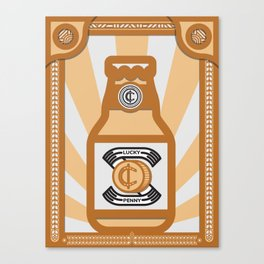 The Lucky Penny Canvas Print