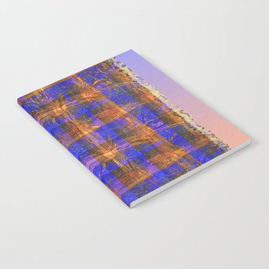 MADRONA TREE PLAID PATTERN Notebook