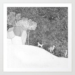 polyhedric ride Art Print