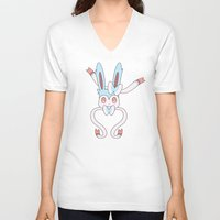sylveon V-neck T-shirts featuring Shiny Sylveon Heart by Sarah Anne Cimaglio
