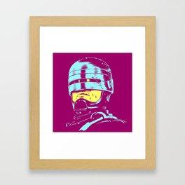 Robocop (neon) Framed Art Print