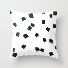 Square Dots #1 Throw Pillow