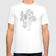 Solo Tree White Mens Fitted Tee SMALL