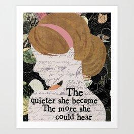She Became Art Print