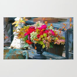 Fall Floral Arrangement Rug