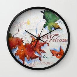 Platanus Falling Wall Clock