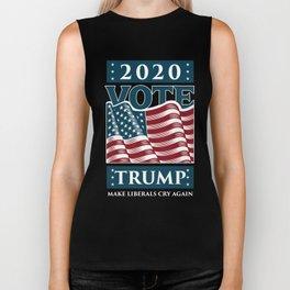 Re-Elect Trump 2020 Make Liberals Cry Again Biker Tank